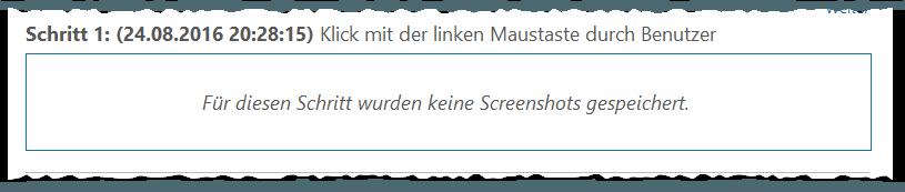 Windows Problem Step Recorder - PSR - Problemaufzeichnung - Schrittaufzeichnung - Für diesen Schritt wurden keine Screenshots gespeichert - Error