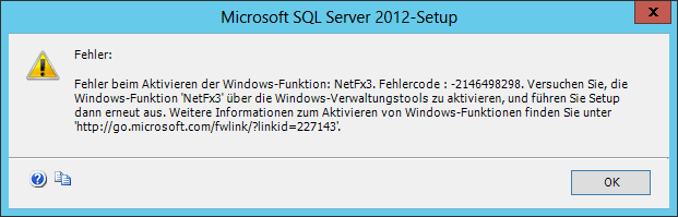 Error while enabling Windows feature: NetFx3, Error Code : -2146498298