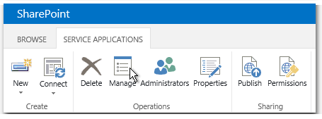 Manage service applications - Dienstanwendungen verwalten - Verwalten - Manage - Button - SharePoint 2013