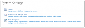 CA - ZA - System Settings - Systemeinstellungen - SharePoint 2013