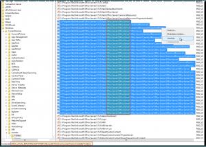 Regedit - HKEY_LOCAL_MACHINE-SOFTWARE-Microsoft-Windows-CurrentVersion-Installer-Folders - Office Server-Office Server - löschen