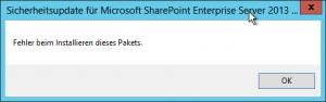 Windows Update - manuell - Fehler beim Installieren dieses Pakets