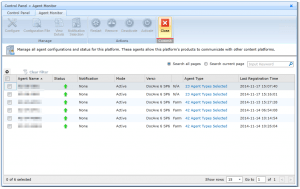 DocAve - Control Panel - Agent Monitor - Status online - Mode Active - DocAve 6 SP6