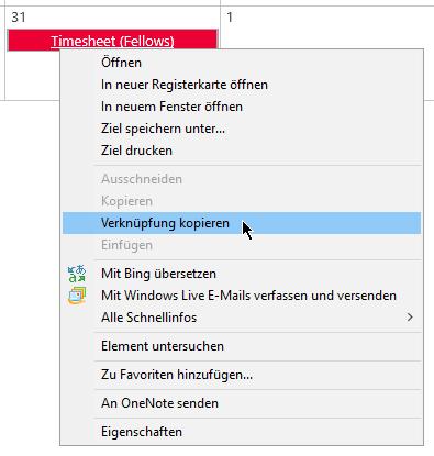 Internet-Explorer - Verknüpfung kopieren - Kontextmenü - iexplore