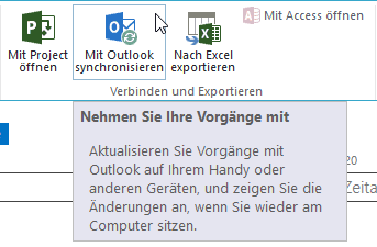 Mit Outlook synchronisieren - PopUp - Button - SharePoint 2013