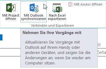 Wir konnten Ihre Vorgänge nicht synchronisieren - Mit Outlook synchronisieren - PopUp - Button - SharePoint 2013