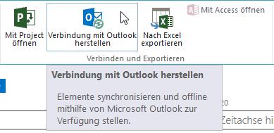 Wir konnten Ihre Vorgänge nicht synchronisieren - Verbindung mit Outlook herstellen - PopUp - Button - SharePoint 2013