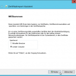 Zertifikatimport-Assistent - Speicherort - Lokaler Computer